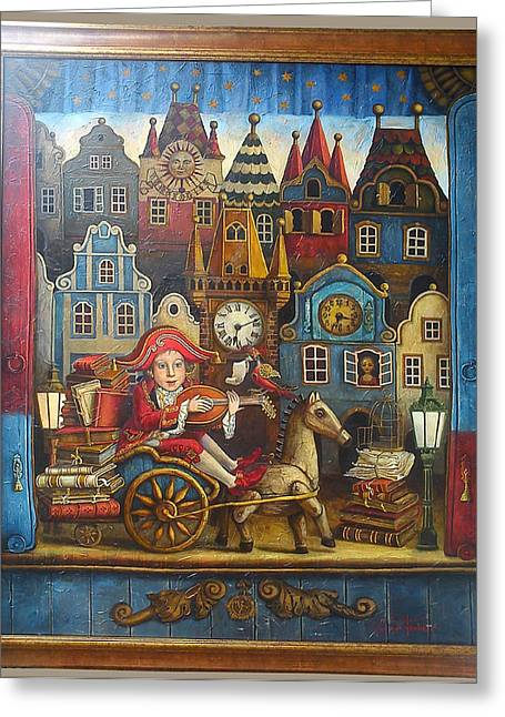 The Little Mozart Greeting Card by Victoria Francisco
