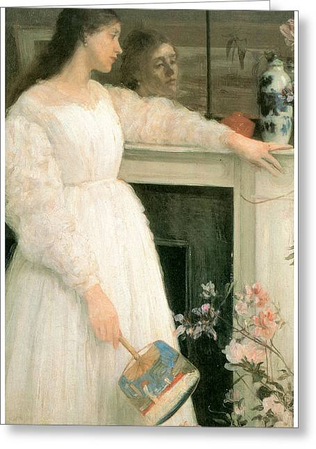 James Abbott Mcneill Whistler Greeting Cards - The Little White Girl Greeting Card by James Abbott McNeill Whistler