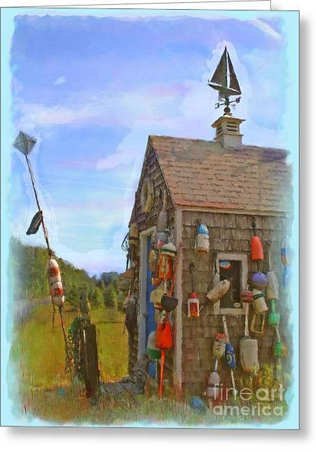 The Lobster Fishing Shanty Greeting Card by Earl Jackson