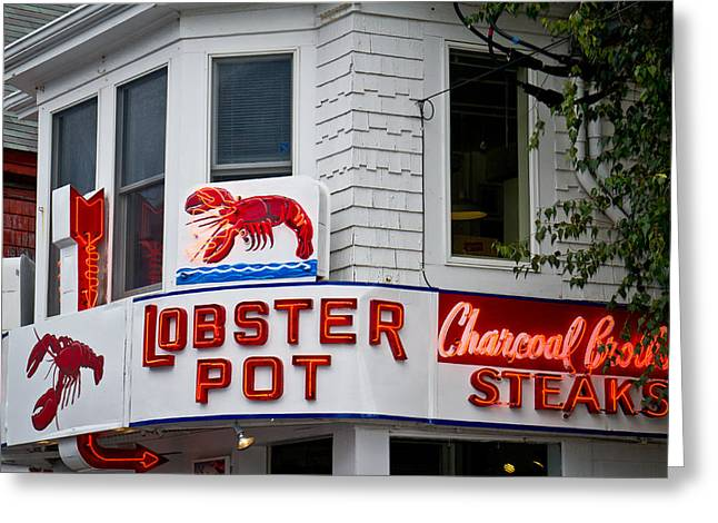 Cape Cod Mass Greeting Cards - The Lobster Pot Greeting Card by Pamela Deutchman