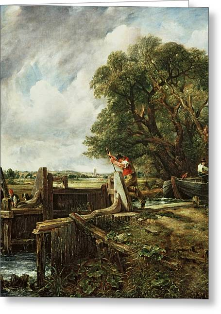 Constable Paintings Greeting Cards - The Lock Greeting Card by John Constable