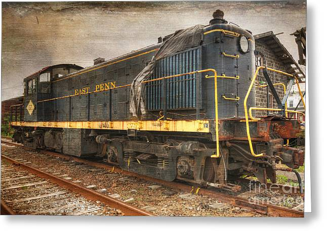 The Locomotive Greeting Card by Paul Ward