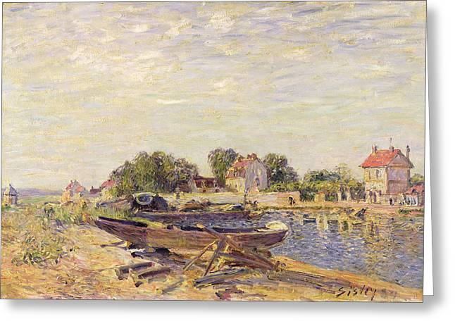 Impressionism Greeting Cards - The Loing at Saint Mammes 1885 Greeting Card by Alfred Sisley