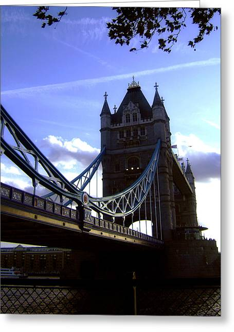 Mystic Sky Art Greeting Cards - The London Tower Bridge Greeting Card by Stefan Kuhn