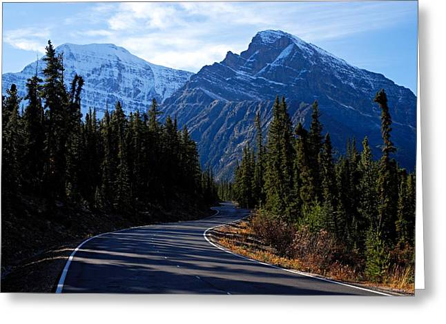 Mountain Road Greeting Cards - The Long and Winding Road Greeting Card by Larry Ricker