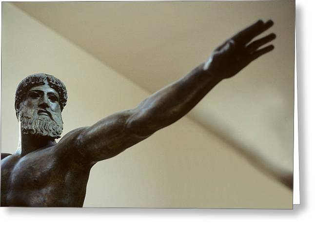 Recently Sold -  - Greek Sculpture Greeting Cards - The Long Arm of Poseidon Greeting Card by Carl Purcell