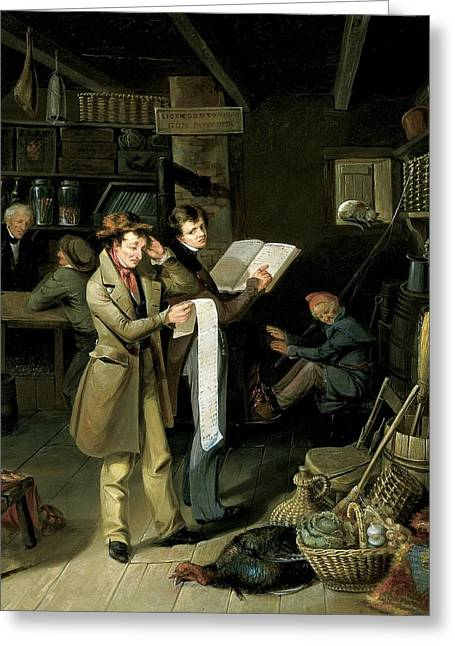 Political Allegory Paintings Greeting Cards - The Long Bill Greeting Card by James Henry Beard
