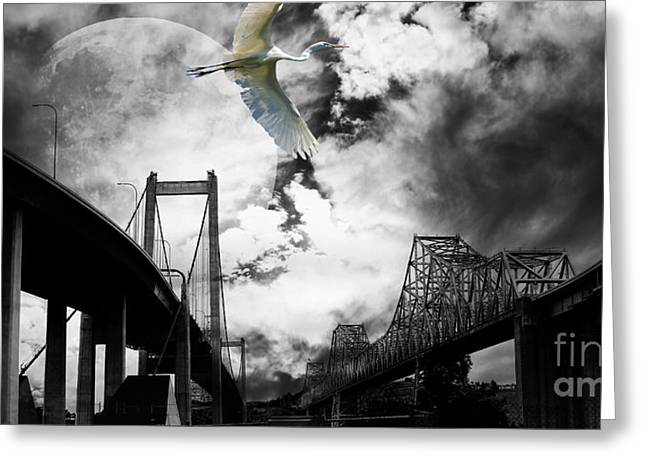 Wide Size Greeting Cards - The Long Journey Greeting Card by Wingsdomain Art and Photography