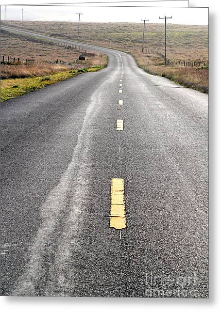 Philosophical Greeting Cards - The Long Road Home . 7D9898 Greeting Card by Wingsdomain Art and Photography