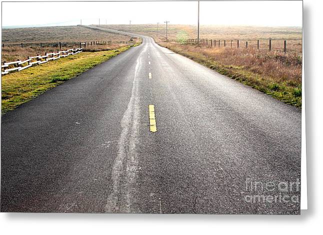 Philosophical Greeting Cards - The Long Road Home . 7D9903 Greeting Card by Wingsdomain Art and Photography