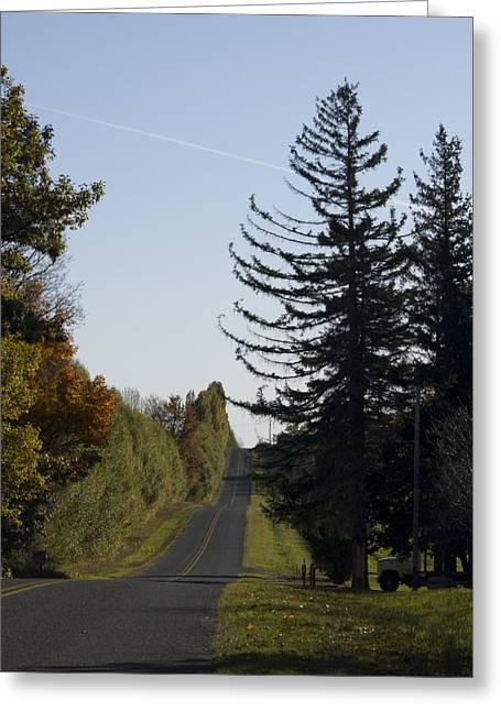 Tara Lynn Greeting Cards - The Long Road Greeting Card by Tara Lynn