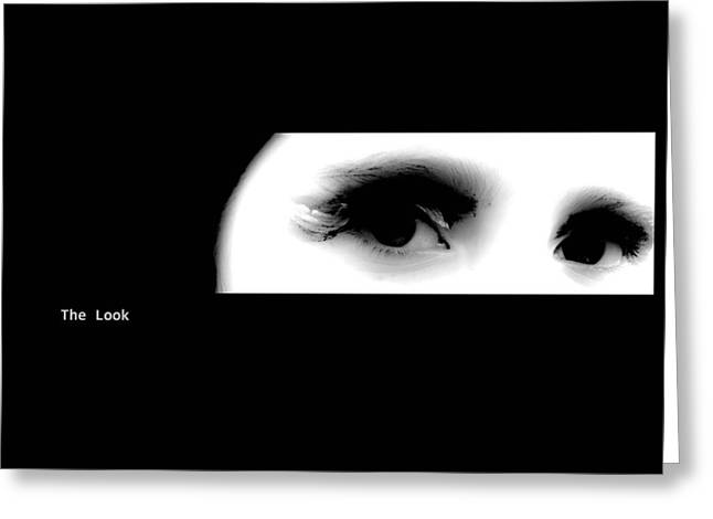 Xoanxo Cespon Greeting Cards - The Look Greeting Card by Xoanxo Cespon