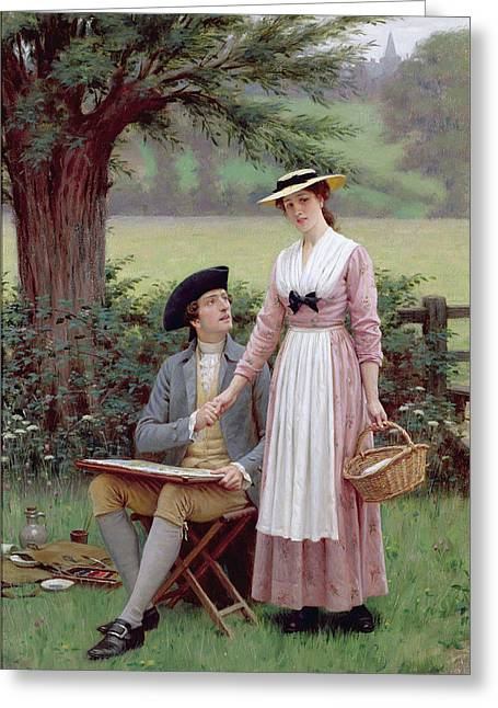 Sweet Touch Greeting Cards - The Lord of Burleigh Greeting Card by Edmund Blair Leighton