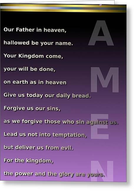 The Lord's Prayer Greeting Card by Ricky Jarnagin