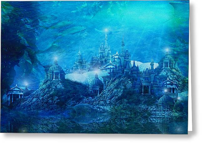 Atlantis Greeting Cards - The Lost City Greeting Card by Karen H