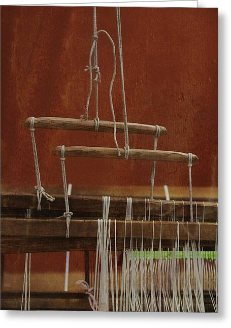 Textile Museum Greeting Cards - The Lot Of The Weaver Greeting Card by Odd Jeppesen