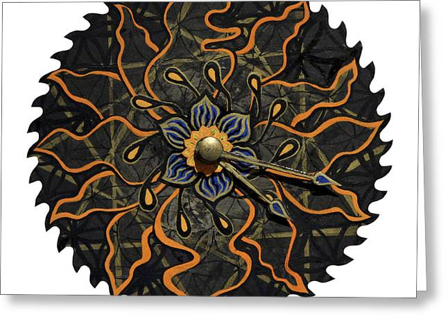 Saw Mixed Media Greeting Cards - The Lotucia Greeting Card by Jessica Sornson
