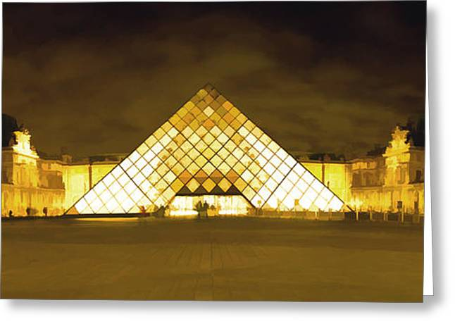 The Louvre Greeting Card by Photography Art