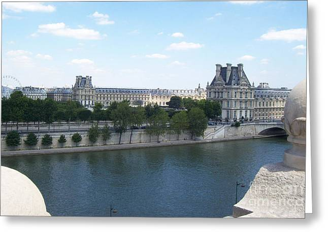Royal Family Arts Greeting Cards - The Louvre Greeting Card by Mary Mikawoz