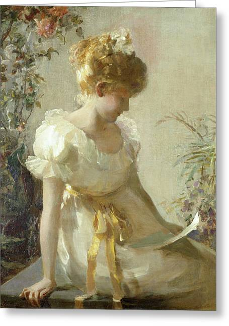 Dated Greeting Cards - The Love Letter Greeting Card by Jessie Elliot Gorst