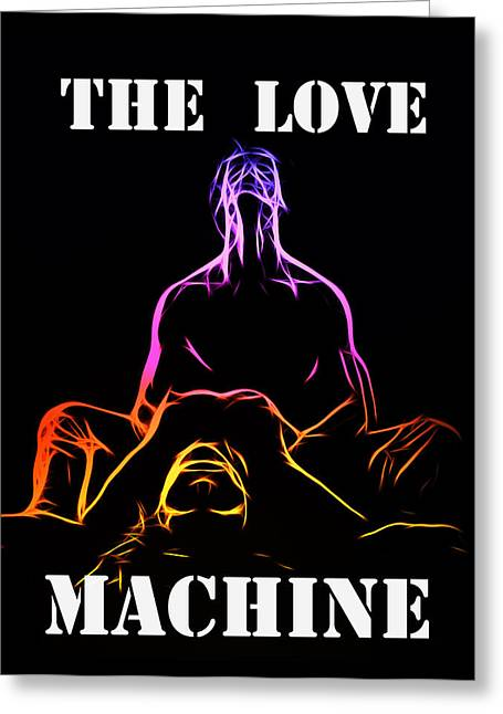 White Maiden Greeting Cards - The Love Machine Greeting Card by Stefan Kuhn