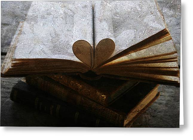Love Image Greeting Cards - The love of a book Greeting Card by Nomad Art And  Design