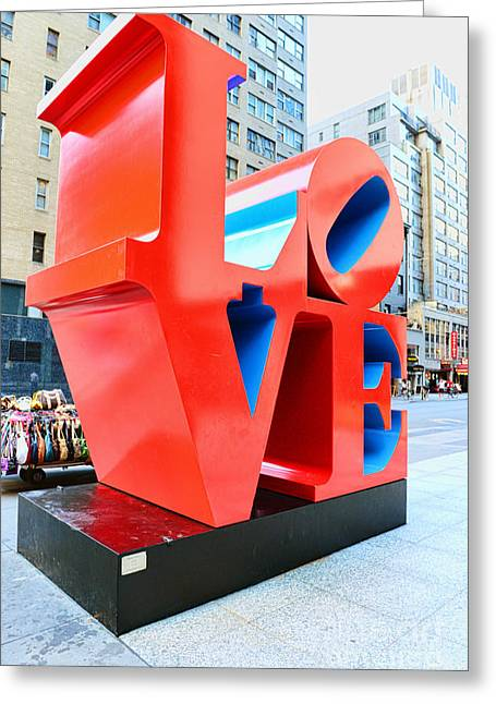 """robert Indiana"" Greeting Cards - The Love Sculpture Greeting Card by Paul Ward"
