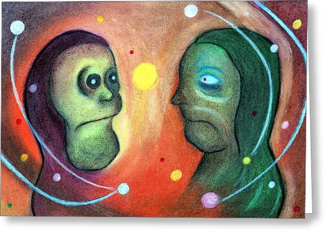 Amazing Pastels Greeting Cards - The Loved Woman Faces Greeting Card by Claudinei Bettiol