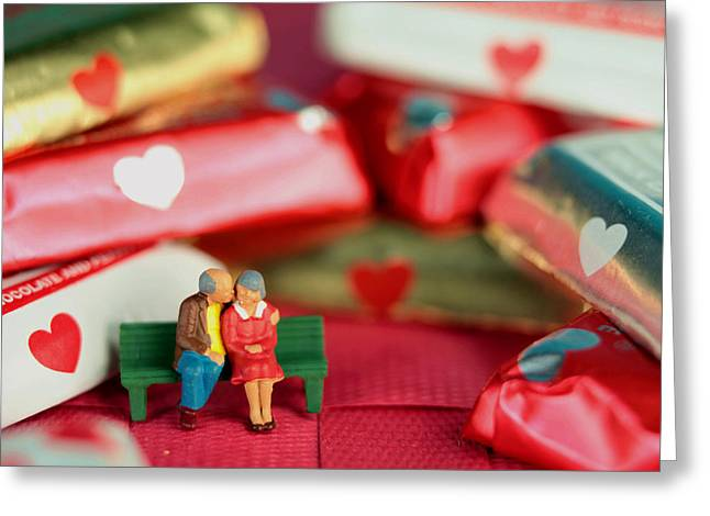 Creating Greeting Cards - The Lovers in Valentines Day Greeting Card by Paul Ge