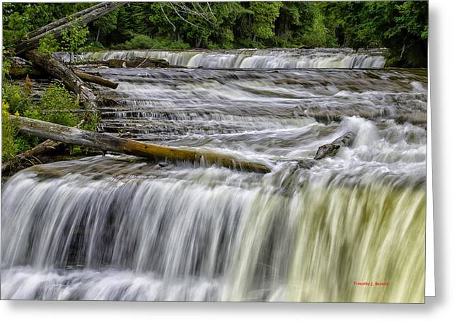 Timothy J Berndt Greeting Cards - The Lower Falls Greeting Card by Timothy J Berndt