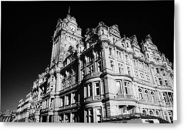 Balmoral Greeting Cards - The Luxury Balmoral Hotel Edinburgh Scotland Uk United Kingdom Greeting Card by Joe Fox