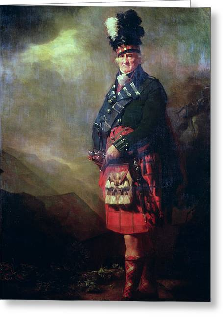 Scottish Highlands Greeting Cards - The MacNab Greeting Card by Sir Henry Raeburn