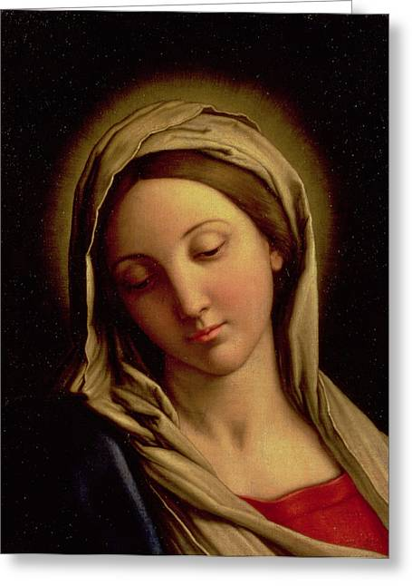 Devotional Greeting Cards - The Madonna Greeting Card by Il Sassoferrato