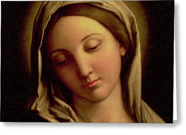 The Madonna Greeting Card by Il Sassoferrato