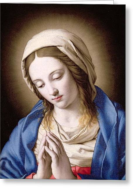 Devotional Greeting Cards - The Madonna Praying Greeting Card by Il Sassoferrato