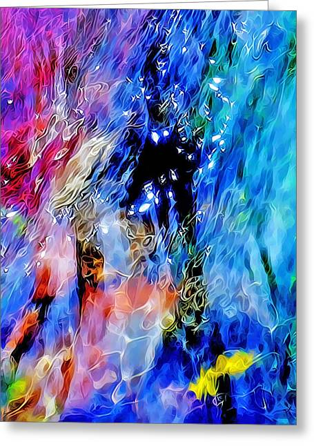 Stream Digital Art Greeting Cards - The Magic Of Clear Water Greeting Card by Terril Heilman