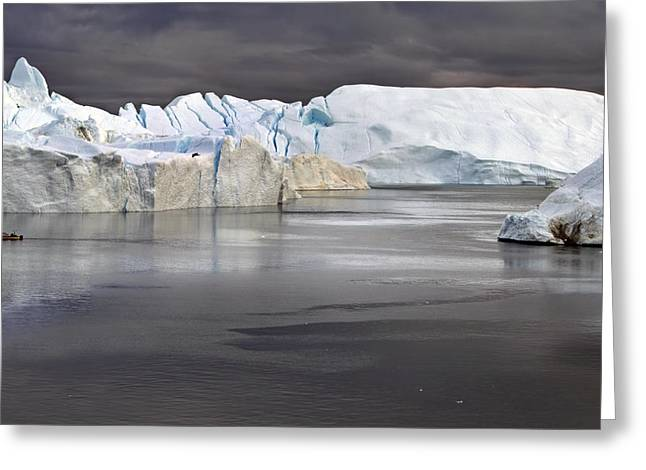 Greenland Greeting Cards - The Magic of Greenland Greeting Card by Robert Lacy