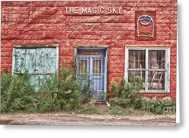 Taos Greeting Cards - The magic sky Taos Greeting Card by Matt Suess