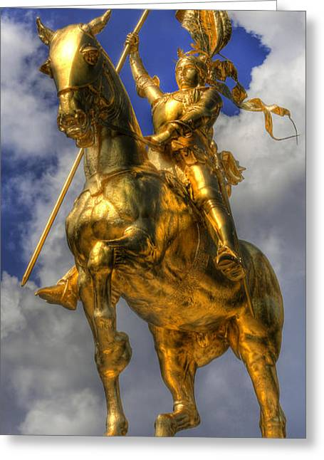 Resolve Greeting Cards - The Maid of Orleans - Joan of Arc - Jeanne dArc Greeting Card by Lee Dos Santos