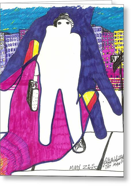 Secret Agent Greeting Cards - The Man Greeting Card by Robert Wolverton Jr