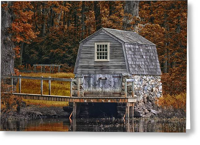 Concord Digital Greeting Cards - the Manse Boathouse Greeting Card by Tricia Marchlik