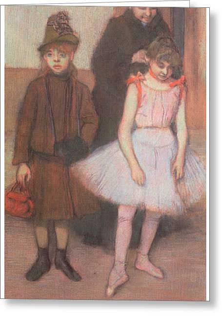 Mothers Pastels Greeting Cards - The Mante Family Greeting Card by Edgar Degas