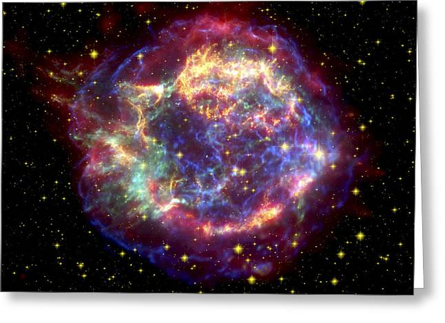 Computer Graphics Greeting Cards - The Many Sides Of The Supernova Remnant Greeting Card by Nasa