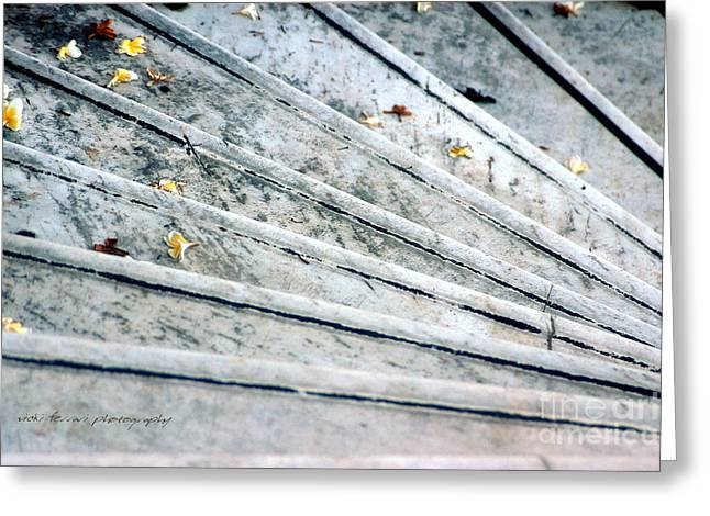 Nikkor Greeting Cards - The Marble Steps of Life Greeting Card by Vicki Ferrari