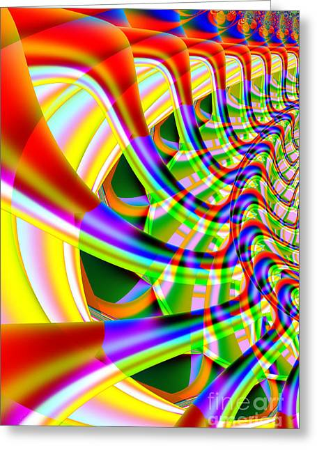 Surreal Geometric Greeting Cards - The Marching Band . Vertical . S14 Greeting Card by Wingsdomain Art and Photography