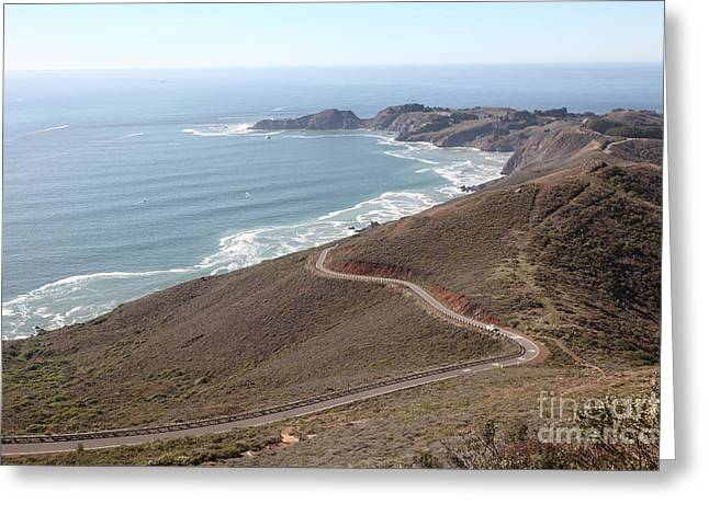 The Marin Headlands - California Shoreline - 5D19593 Greeting Card by Wingsdomain Art and Photography