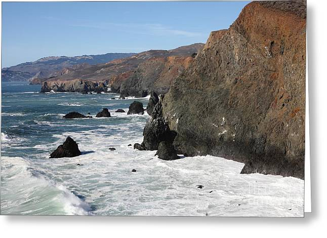 Marin County Greeting Cards - The Marin Headlands - California Shoreline - 5D19692 Greeting Card by Wingsdomain Art and Photography