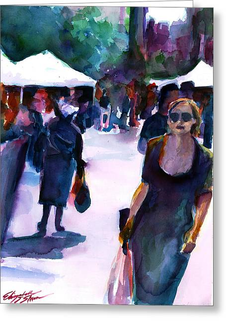 Recently Sold -  - Union Square Greeting Cards - The Market No. 1 Greeting Card by Elizabeth Shrum