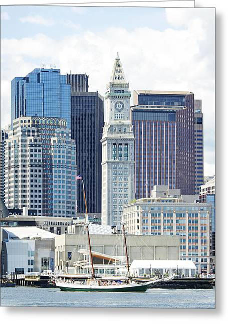 Residential Structure Greeting Cards - The Marriott Custom House Tower Viewed Greeting Card by Charles Knox