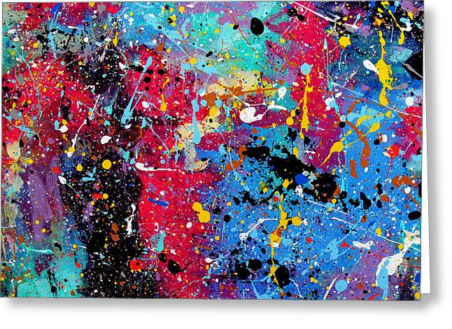 Palette Knife And Brush Greeting Cards - The Marvel Greeting Card by Charles Yates